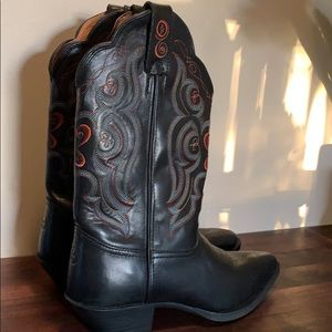 Worn Once Black Tony Lama Cowgirl Boots